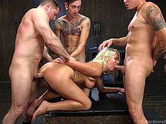People told me gangbang is traumatic. Not to me, I love the feeling of being dominated by more than one hunk. There is nothing like having two dicks inside of you, as they ride your body up and down. I let four men take turn in fucking me hard. I came so good. One penis is just never enough.
