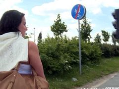 Czech Teen Perseudaded for Outdoor Public Sex