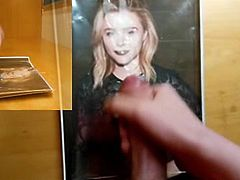 Chloe Grace Moretz Lipstick and Lace at Nylon Party Tribute