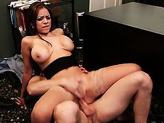 Bodacious cutie Yurizan Beltran with big hooters enjoys Danny Wyldes throbbing tool deep inside her cunt