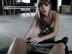Gina Gerson loves the way David Perry bangs her mouth after back porch fucking