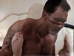 Karlie Montana gets a mouthful of dick in blowjob action with horny bang buddy