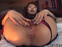Hot Haruka Yanase proudly flaunts her twat and then goes down on her BF