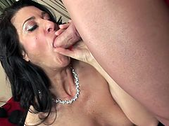 Great facial for mature italian teacher wit black fishnet