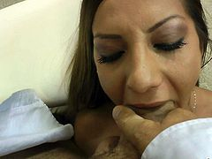 Slutty chick Alice Romain gets it started with deep throat. Naked brunette gets skull fucked by Rocco Siffredi from your perspective. Then leggy babe gets her toes sucked.