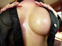 Good looking asian MILF Kianna Dior gets her huge tits fucked good from your point of view by a lucky man. His throbbing cock is between her monster boobs. Kianna Dior is good at giving tit job.