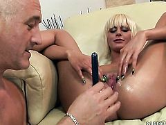 Blonde White Angel is so wet and so horny that fucks like a sex crazed animal