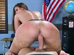 Visit official Brazzers Network's HomepageBrooklyn Chase is a curvy ass teacher with amazing tits, horny as fuck and ready to devour some young dick in sutty scenes of hardcore