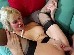 brit gilf in lingerie gets a hardcore fuck