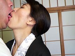 Sexy milf Sumika is enjoying some sake and good food with her husband, after a long day. She is getting horny and needs her man's cock. The hot milf takes his dick deep inside her old cunt. What a hot night in Tokyo for this mature couple.