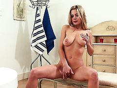 With massive tits and clean cunt will take your breath away with her perfect body
