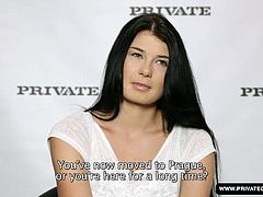 Watch adorable Lucy walk off the boat and into the Private studios for her intake interview. A gorgeous girl originally from Munich Germany and now living in Prague, this creampie cumshot video is destined to make this sultry brunette a star on the XXX world stage!