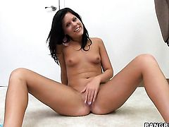 Brunette Madison Parker with tiny tities is a slut that needs cum on face over and over again