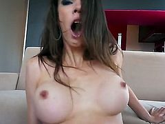 Tiffany Tyler is a busty porn star that is showing her naked flesh. She is with a guy and she is getting her pussy stretched wide open by his dick.