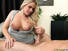 Levi Cash is horny as hell and cant wait any longer to slam delicious Angel Allwoods mouth with his throbbing boner
