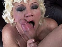 Hairy granny Orhidea seduces young boy Tomi