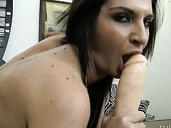 Rocco Siffredi gets his always hard sausage used by Bambi A