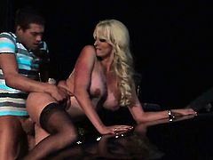 Stormy Daniels finds herself blowing mans hard snake