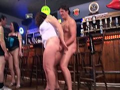 Stout 6! Amateur gilrls fucking in the club part 2