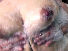 Warm shower goes nasty for horny Kana Mimura