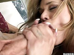 Blonde Shyla Stylez feels the best feeling ever with mans beefy hard rod in her honeypot