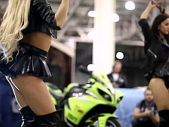 Girls dancing on auto tuning show