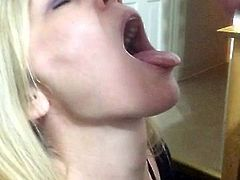 Blonde milf facial 1