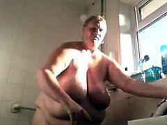 Grany takes a shower