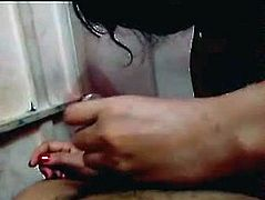 bangla Aunt Hot Blowjob To Lover in bedroom - Wowmoy