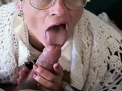 Kathy is a sweet-looking, kindly grandmother with a loving family. Aside from the typical senior stuff, she has some other needs, like cock. She needs it big, hard and often, and she gets what she wants. She sucks him up, just as well as any 20-something slut could, and she still has flexibility.