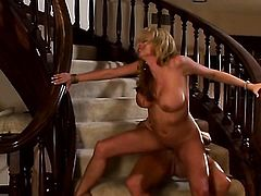 Stormy Daniels shows her love for rod sucking in blowjob action with horny dude
