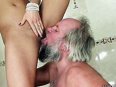 Blonde Nikky Thorne is in heat in steamy oral action with hot guy