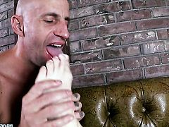 Loni Evans takes dudes cum loaded love wand in her hot mouth