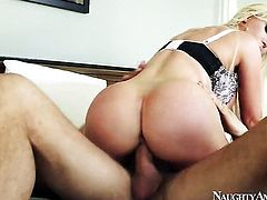 Oriental Nikki Benz plays with her clit as she gets her hole pounded by Danny Mountain