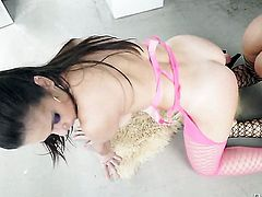 Nekane with big jugs cant wait to be humped by her hot Nacho Vidal
