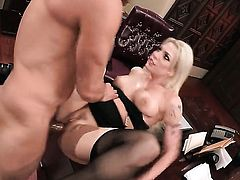 Anal gangbang for a blonde