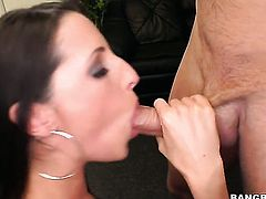Brunette Kortney Kane with phat butt is good on her way to make hard cocked bang buddy explode in hardcore action