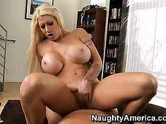 Mouth-watering porn girl Candy Manson with phat ass and hairless twat gets the pleasure from pussy stuffing with Christian like never before
