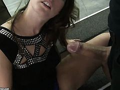 Redhead hooker Paige Turnah milking sausage with her hot lips