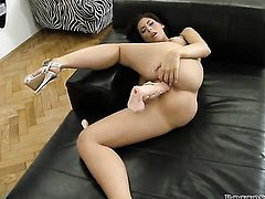 Ashley Brooke with juicy breasts is too hot to stop fucking with horny dude Rocco Siffredi