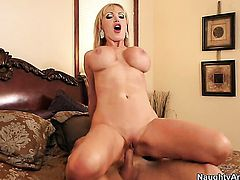 Nikki Benz has vigorous sex with horny fuck buddy Johnny Sins