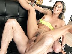 John Strong makes Senora Nadia Styles gag on his meaty tool before she gets assfucked