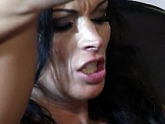 Bailey Brooks cant wait to be fucked in her mouth by hard cocked guy