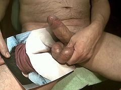 Tribute for letshavefunto9t - cumshot on pussy and ass
