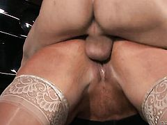 Alura Jenson with huge hooters does oral job for hot fuck buddy to enjoy