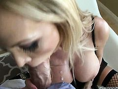 Nikki Benz asks Rocco Siffredi to stick his beefy meat pole in her mouth