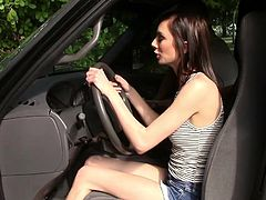 Ravishing petite girl Richelle Ryder gets her small tight pussy drilled by her drving instructor in exchange of letting her pass on her drivers license exam.