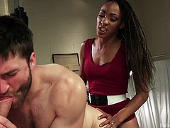 Nikki Darling is very good at crushing slaves and in this video, she humiliated Abel Archer and Wolf Hudson to the core. She used these two men to satisfy her dark sexual desires and they were ordered to cum only on her command.