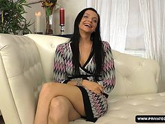 Anita Sparkle is sitting down and having a casting interview that includes all of her background and also a view of her fully nude body. Eventually she bares her wet pussy and then sucks on a hard dick before feeling it deep inside of her. Anal sex comes next and this girl already seems like a pro.