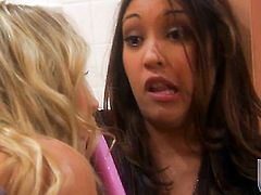 Nautica Thorn and Sammie Rhodes kill time playing with each others snatch